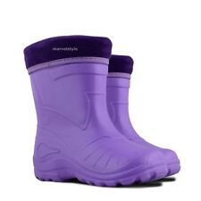 Kids Boys Girls Wellington Boots Wellies Rainy Winter Boots EUR 22-35 / UK 5-2.5