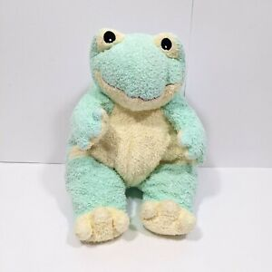 """TY Baby Frog Rattle Pastel Green Plush Stuffed Pillow Pal 12"""" 1999 Vintage Toy"""