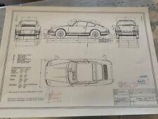 Neues AngebotARTwork Porsche 911S 1969  Blueprint / Konstruktionszeichnung/ Blueprint.