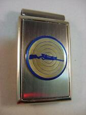 RIFLE with TARGET POLISHED SATIN CHROME MONEY CLIP NEW