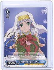 Weib Weiss Schwarz Toaru Majutsu no Index 2 Index Signed TCG card ID/W13-102 TD