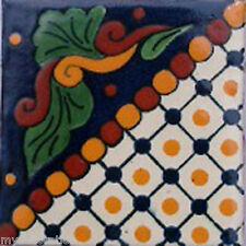 C#062) MEXICAN TILES CERAMIC HAND MADE SPANISH INFLUENCE TALAVERA MOSAIC ART