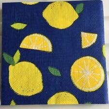Decoupage Wedding Vintage Serviettes Paper Napkins Yellow Lemon Birthday A88