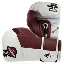 Hayabusa Tokushu Boxing MMA Gloves 10 oz White Crimson Red NEW Free Shipping NEW