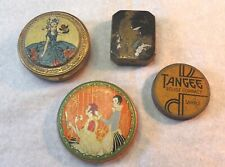 Vintage Sample Compacts, Dirrme, Three Flowers, Tangee, Girl on The Cover