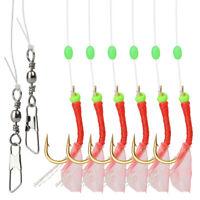 2Pcs Sea Luminous Soft Shrimp Fishing Hook Lure String Hooks Bait Tackle