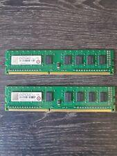 Lot de 2 Transcend 4Go 1Rx8 DDR3 1333 U