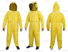 Yellow Three Layers Mesh Ultra Beekeeping Suit Bee Ventilated Cool Air Medium