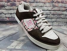 women's DC shoes - drk.chocolate/turquoise/white skate sneakers 301173 sz 8