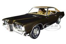 "1969 PONTIAC GRAND PRIX SJ EXPRESSO BROWN ""MCACN"" 1/18 DIECAST AUTOWORLD AMM1175"