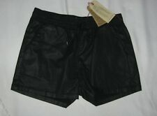 Current Elliott Coated Drawstring Lounge Shorts Black Size 3 NWT