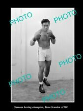 Old Postcard Size Photo Of Samoan Boxing Champion Tuna Scanlan c1960