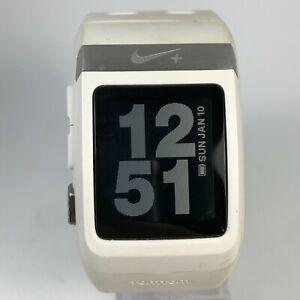 Nike+ WM0069 Unisex Tomtom White Polymer Wide Band GPS Runner Digital Sportwatch