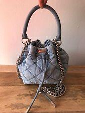 Stella McCartney Beckett Denim Drawstring Bucket Bag Shoulder Chain Dustbag