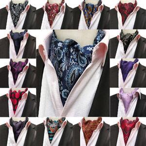 Men Floral Polka Dots Paisley Scarves Cravat Ascot Wedding Neckties New Fashion