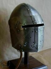 Medieval Knight Closed Armor Helmet Ready For Battle Costume Halloween Gift M5