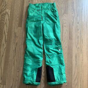SPYDER ~ Ski/ Snowboard Snow Pants Zip Youth Boys/Girls Kids Green Size 14