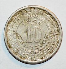 1946 10 CENTAVOS coin MEXICO vintage foreign world BEAUTIFUL UNCIRCULATED