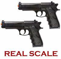 X2 Airsoft Beretta M9 Spring Pistol Handgun Gun Real Scale M757B Black Prop 1:1