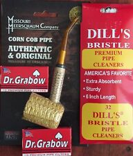 "Missouri Meerschaum ""BENT"" Corn Cob Pipe Dill's Cleaners & Dr. Grabow Filters"