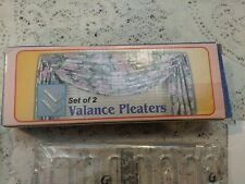 Friendly Home Valance Pleaters & Bracket Hardware For 1 Window  In Box, Instruct