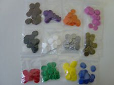 Counters, 15 mm diameter, Tiddlywinks / Board Games, New, Various colours