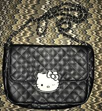 Sanrio Hello Kitty Black Punk Goth Loungefly Quilted Crossbody Bag Rare!!!