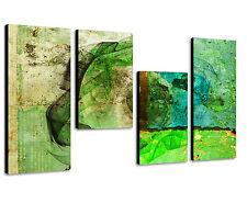 130x70cm Paul Sinus Art 4 teiliges Bild abstrakt - Energie Wandbild Kunst Art