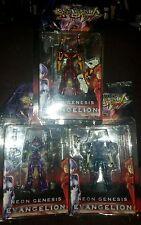 Yamato Evangelion Neon Genesis EVA-00 EVA-01& EVA-02.  lot 3 figures