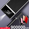 900000mAh Ultra-thin Portable Power Bank External Battery Huge Capacity Charger
