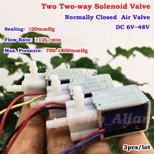 DC6V-48V 12V 24V 2-Way Micro Solenoid Valve Normally Closed Mini Air Water Valve