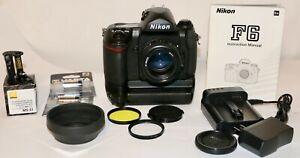 Nikon F6 + MB-40 Battery Pack + AF Nikkor 50mm f/1.4D Great Condition  USA