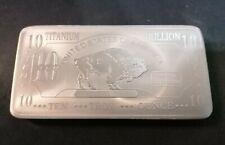 More details for 10 oz .999 fine titanium buffalo bullion bar ingot