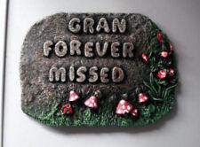 GRAN FOREVER MISSED Gravestone.  Grandmother memorial. Memorial plaques
