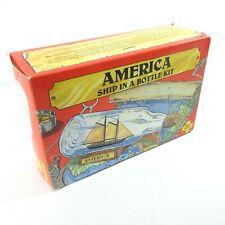 Vintage America Ship in a Bottle Model Kit by Woodkrafter 1984 OPEN BOX No. 202