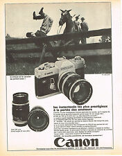 PUBLICITE ADVERTISING  1982   CANON  appareil photo PELLIX