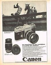 PUBLICITE ADVERTISING  1982   CANON  appareil photo PELLIX