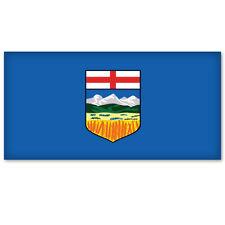 "ALBERTA Canada Flag car bumper sticker decal 5"" x 3"""