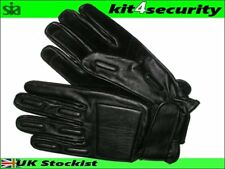 Leather Glove Added Protection door supervisors bouncers security police MEDIUM