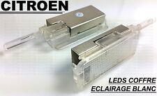 CITROEN DS3 A55 2 x LED LEDS SMD ECLAIRAGE BLANC XENON COFFRE LUMIERE INTERIEURE