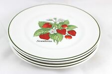 TIFFANY SET 4 JOHNSON BROTHERS CHINA STAFFORDSHIRE SALAD PLATES BERRIES FRUITS