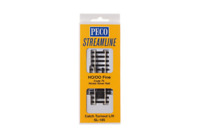 Peco SL-185 Streamline Catch Turnout Left Hand Code 75 Insulfrog HO/OO Gauge