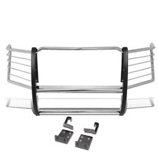 Fit 11-16 Ford Super Duty Stainless Steel Front Bumper Tubular Grill Brush Guard