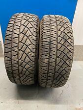 2 x 245/65/17 7,3/7,3mm Michelin Latitude Cross 111H  DOT3320 A726 Matching Pair