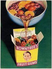 ROWNTREE'S FRUTTA GOMMOSE vintage campagna pubblicitaria da cucina