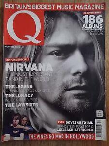 Q British Music Magazine October 2002 NIRVANA KURT COBAIN Cover!!