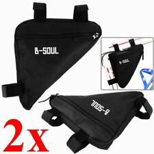 2 Bicycle Front Frame Triangle Bag Cycling Bike Tube Pouch Holder Saddle Pannier