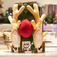 Für LKW SUV Dekor Kit Weihnachten Rudolph Auto Kostüm Geweih Rentier Rote X4R0