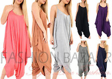 Womens Cheap Baggy Cami Strap Harem Drape Jumpsuit Holiday Beach Party Playsuit