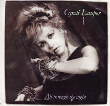 CYNDI LAUPER All Through The Night / Witness 45 - RARE White Label Promo